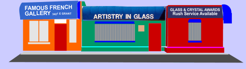 Artistry in Glass is at 3423 E Grant Road in mid-town Tucson